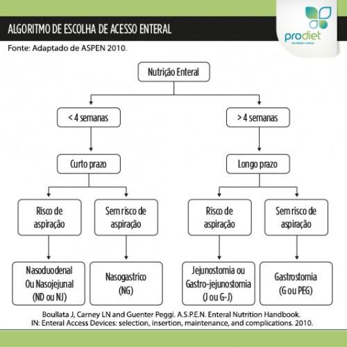 Tipos de acesso para nutrição enteral e como são escolhidos