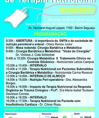 I Jornada Catarinense de Terapia Nutricional