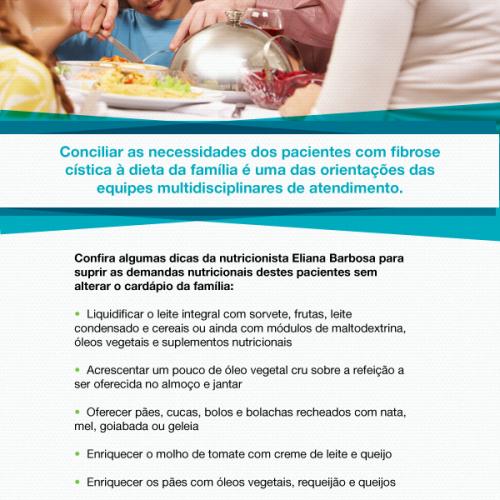 A alimentação de pacientes com fibrose cística