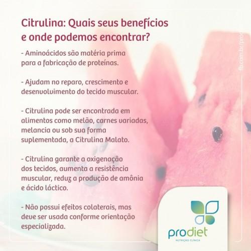 Citrulina: o que é, para que serve e quais são seus benefícios??